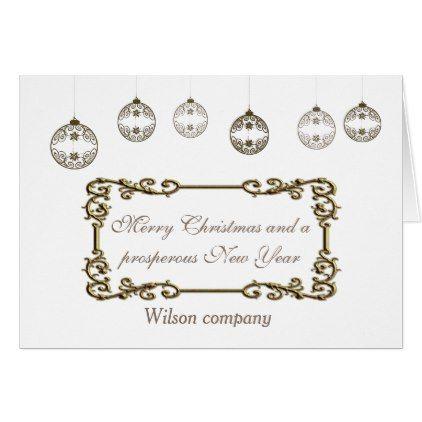 Trendy classy Christmas balls corporate calendar Card Classy christmas