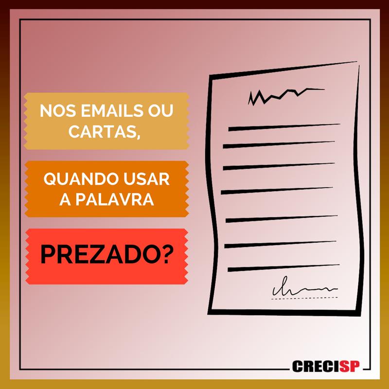 """CRECISP @portalCRECISP  O """"Prezado"""" não pode aparecer desacompanhado. Ou seja, deve estar sempre acompanhado do nome da pessoa a que se destina."""