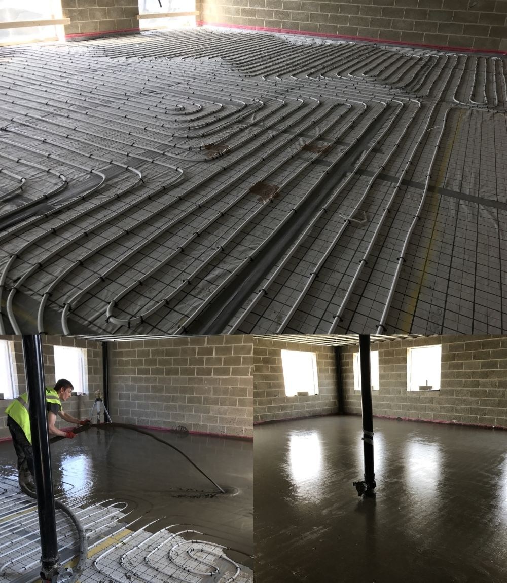 Stylite gridboard underfloor heating insulation being installed at stylite gridboard underfloor heating insulation being installed at a new build apartment block in west yorkshire dailygadgetfo Image collections