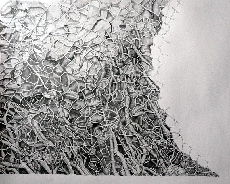 Abstract pencil drawing