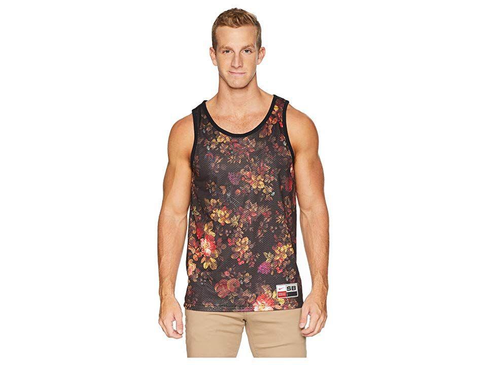 87f8f3d69af0 Nike SB SB Dry Mesh Floral Tank Top (Black White) Men s Sleeveless ...