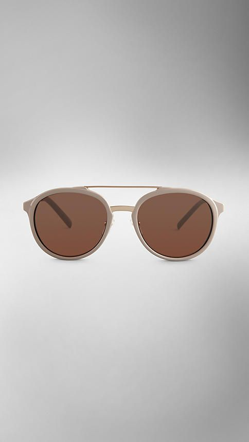 5eef3e9a11e Trench Collection Round Frame Sunglasses