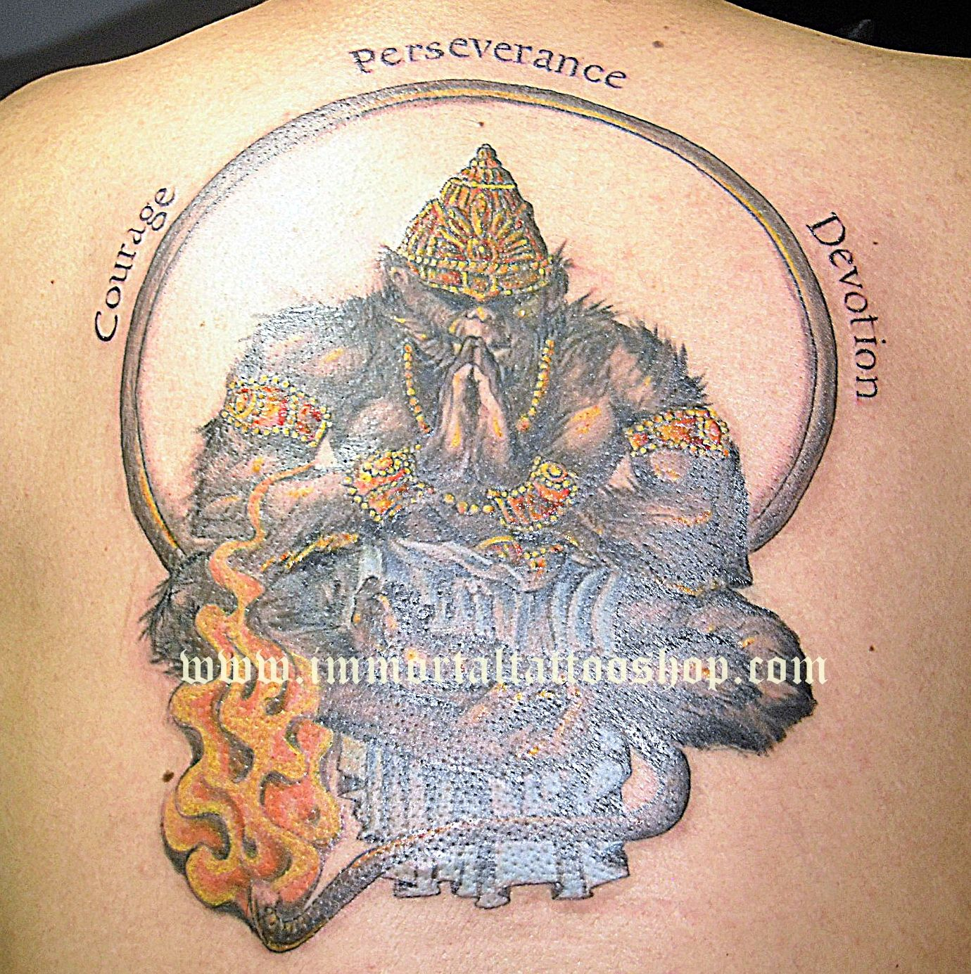 Lord Hanuman Tattoo Designs Pictures