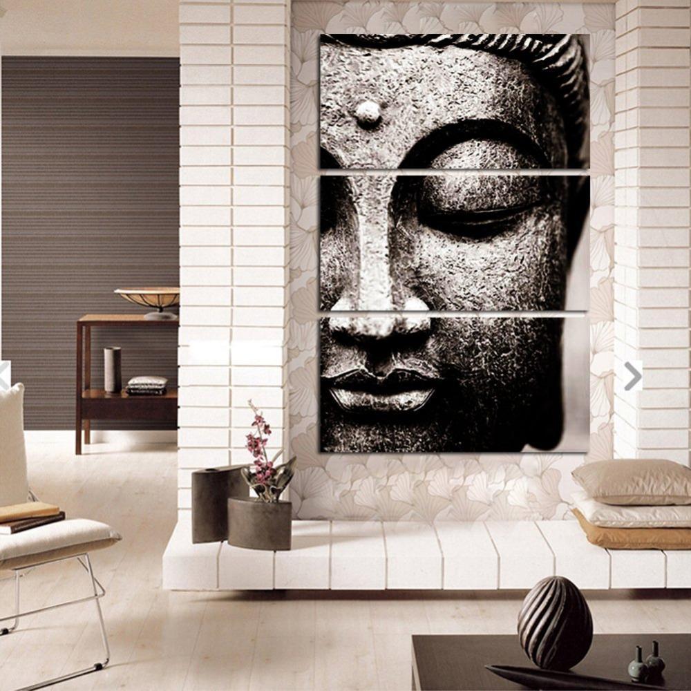 Grey Buddha Buddha Wall Art Buddha Decor Living Room Art