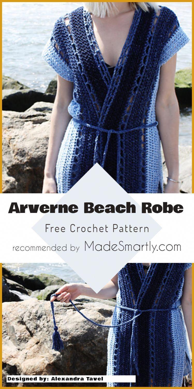 d004b1de17 Two of Wands. Arverne Beach Robe Cover Up - Free Crochet Pattern   freecrochetpatterns  crochetcoverup  summerstyle