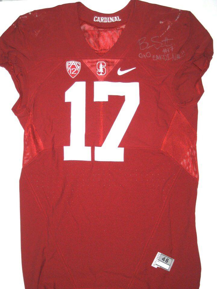 05492243 Brennan Scarlett Game Worn & Signed Stanford Cardinal Nike Jersey ...