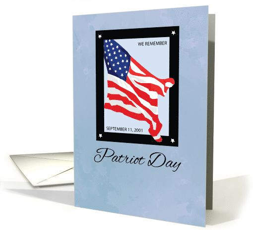 911 Patriot Day, Remembrance Flag card (1390414)