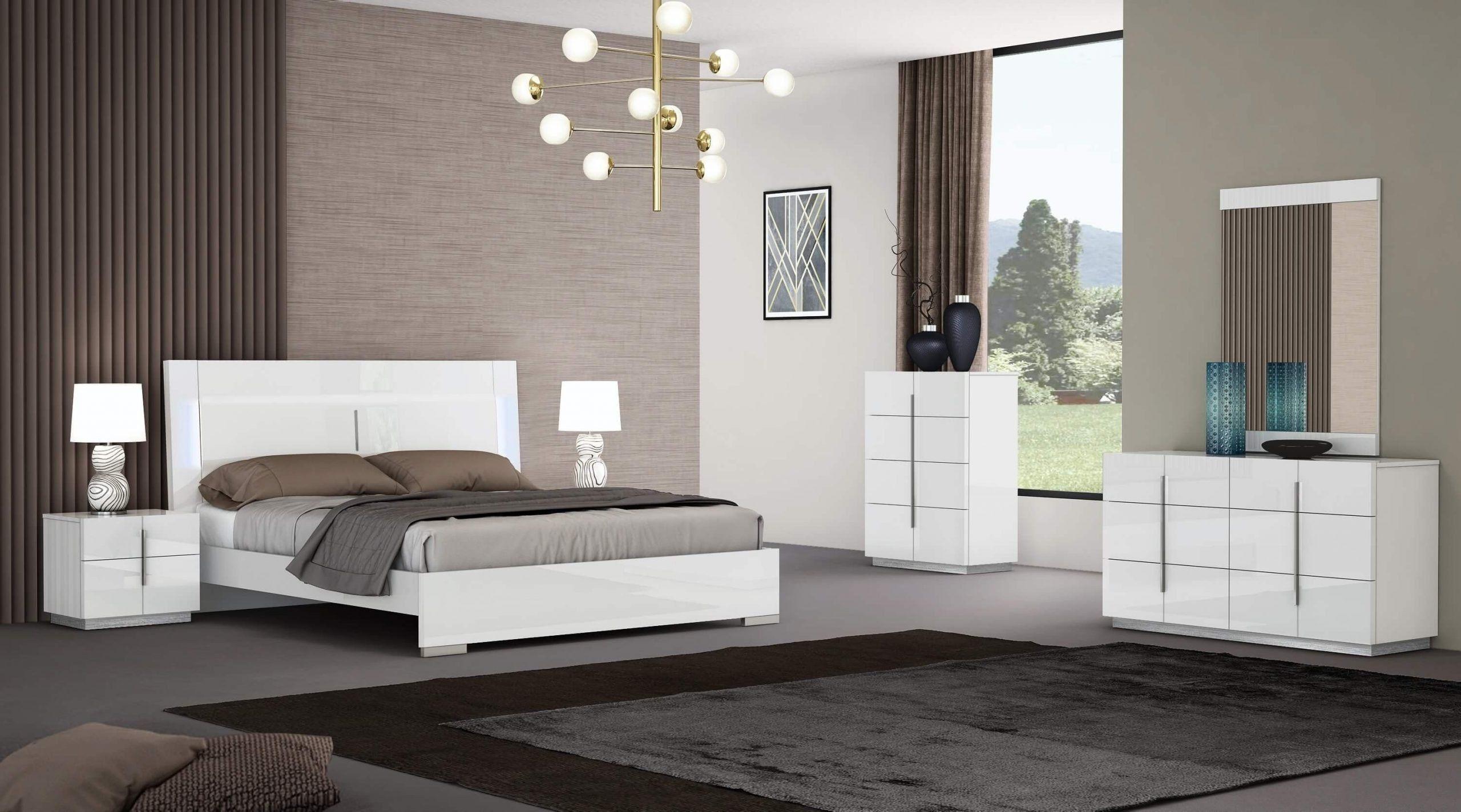 White Lacquer Bedroom Set Oslo Premium Lacquer Platform Bedroom Set Platform Bedroom Sets Platform Bedroom Bedroom Set
