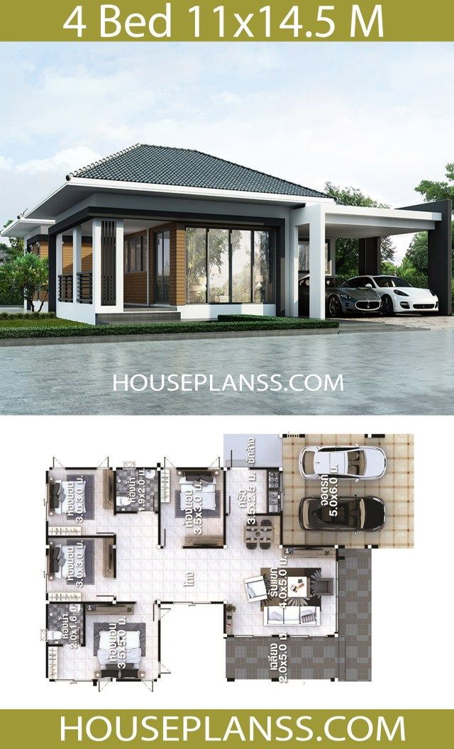 House Plans Idea 14 5x10 With 4 Bedrooms Bedroom House Plans 4 Bedroom House Plans House Plan Gallery