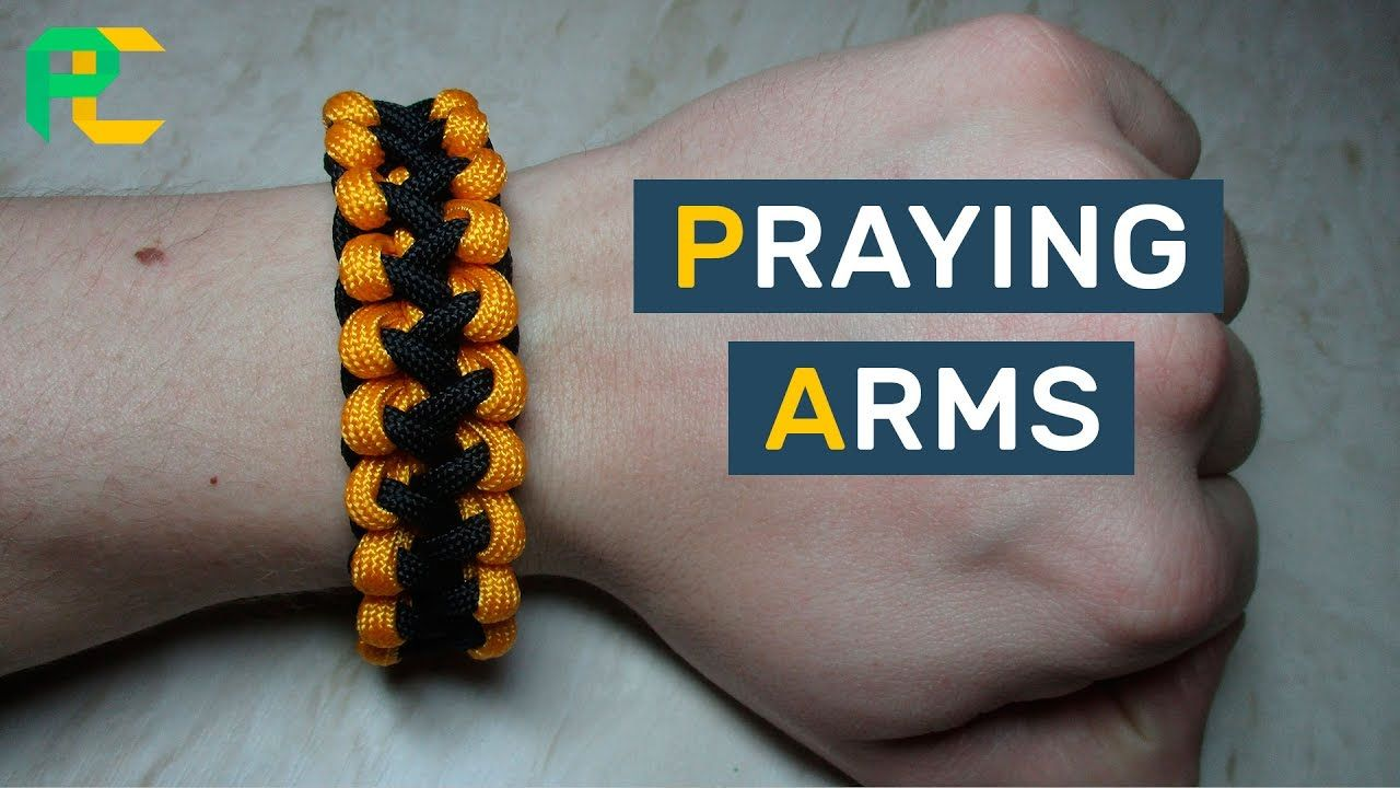 Praying arms paracord bracelet without buckle paracord