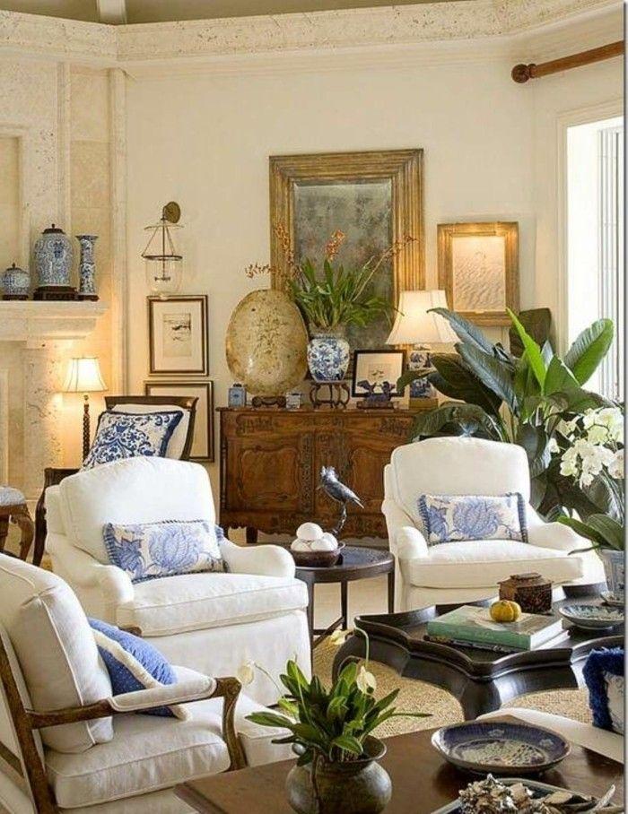 Wohnideen Wohnzimmer Weiße Möbel Gemütlich Pflanzen
