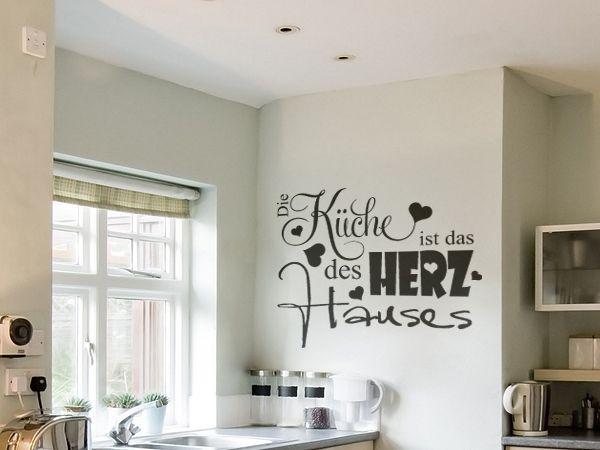 sch nes wandtattoo f r die k che die k che ist das herz des hauses deko pinterest. Black Bedroom Furniture Sets. Home Design Ideas