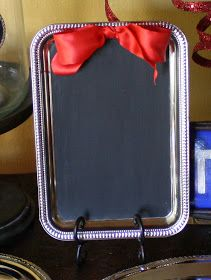 Silly Bee's Chickadees: Dollar Store DIY- Chalkboard Tray!