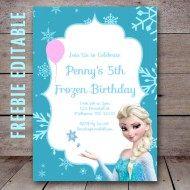 Free Editable Birthday Invitations Instant Download Frozen Birthday Invitations Elsa Birthday Invitations Birthday Party Invitations Free