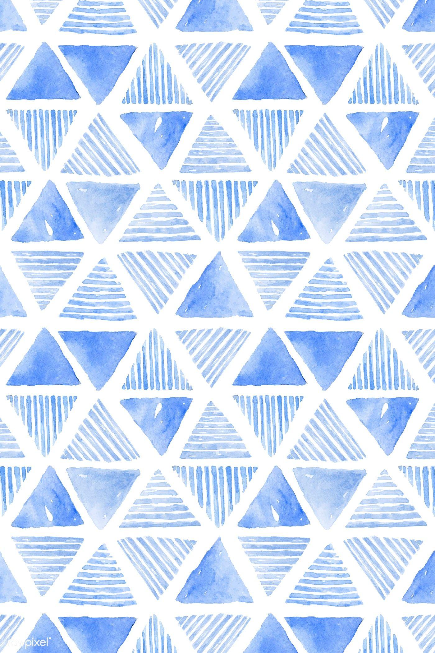 Download Premium Vector Of Indigo Blue Watercolor Triangle