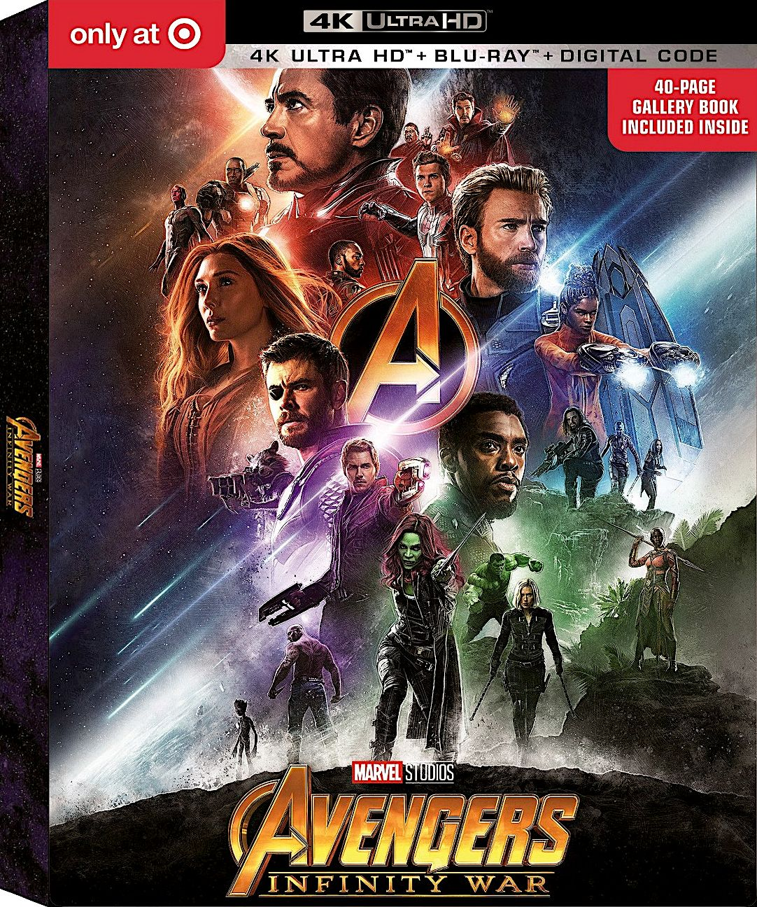 Avengers Infinity War 4k Blu Ray Target Exclusive Gallery Book Disney Avengers Movies Marvel Studios Marvel Avengers