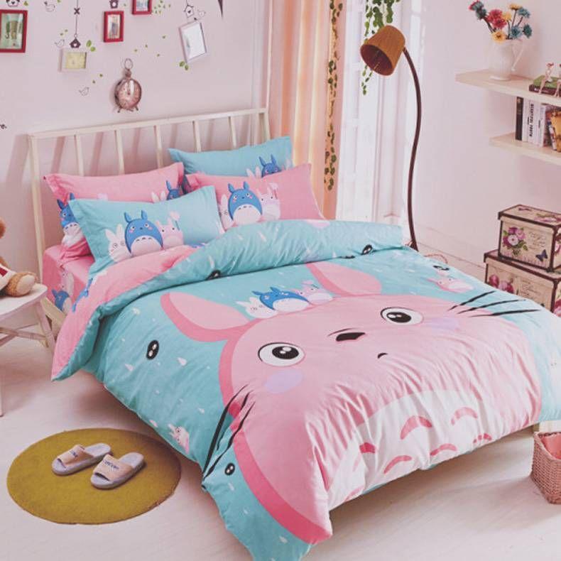 Roupa e conjunto de cama Totoro rosa!