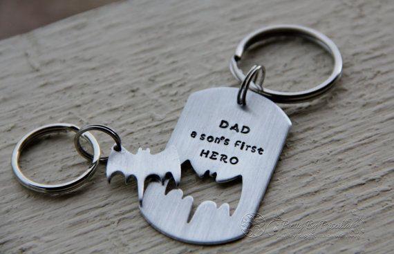 Father/'s Day No.1 Dad Grandad Hero Metal Keyring Personalised