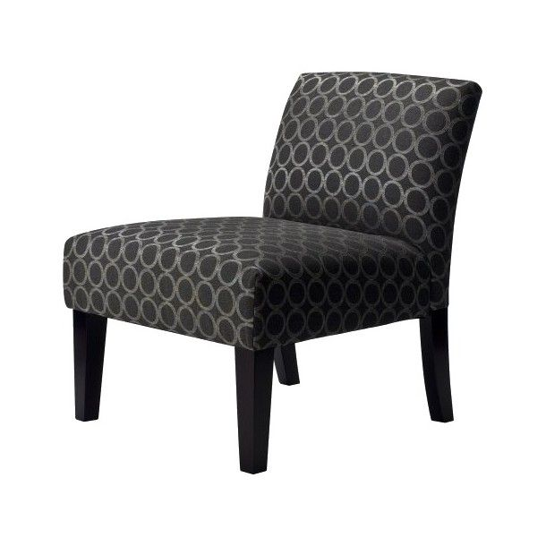 upholstered slipper chair white tufted office avington graphite circles