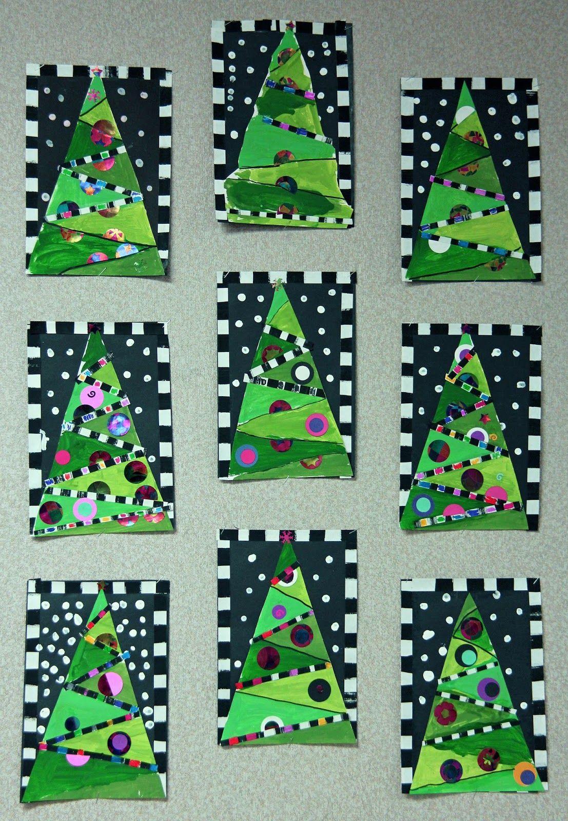 Artz Kiddoz Christmas Tree Art Christmas Collage Christmas Art