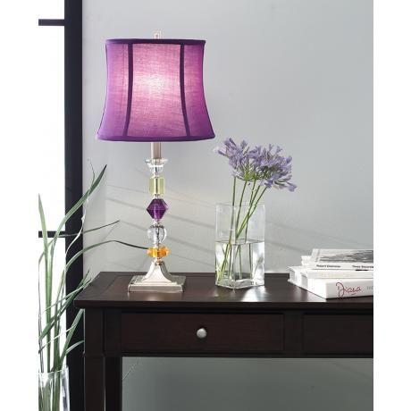Purple Bijoux Table Lamp 22124 Lamps Plus Stylish Table Lamps Table Lamp Purple Lamp