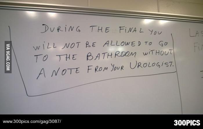 My professors are very strict during finals. - 300Pics