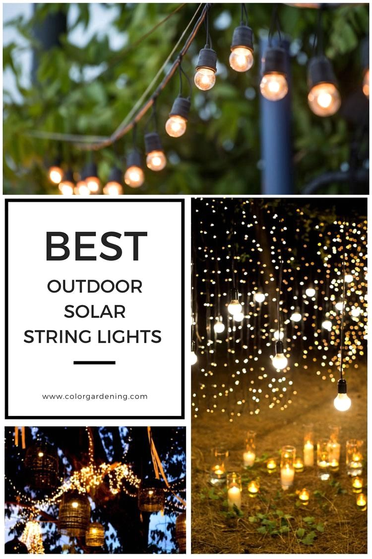 Solar String Fairy Lights With 15 Bulbs Warm White For Outdoor