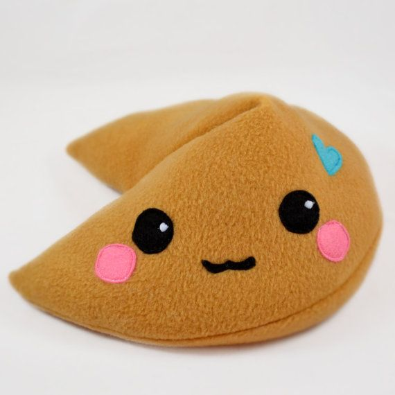 Fortune Cookie Plush Toy Pillow Cute Sweets Kawaii Cushion
