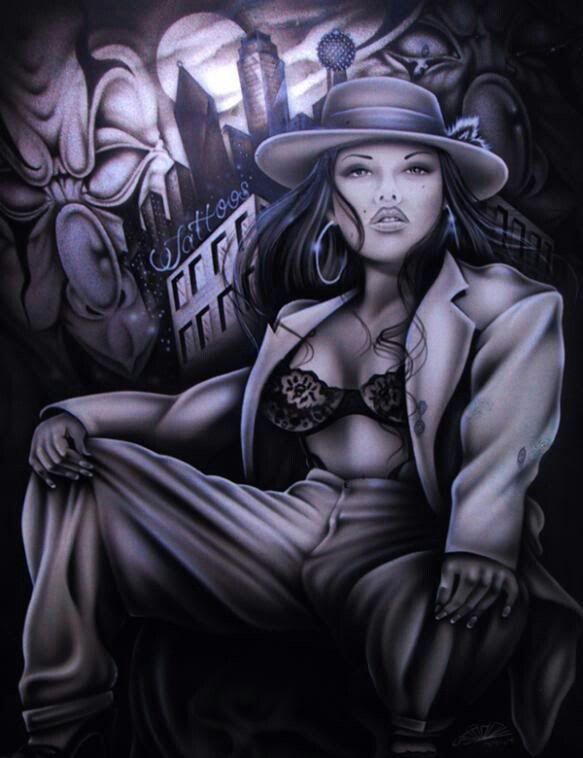 Lowrider arte girls naked drawings — photo 12
