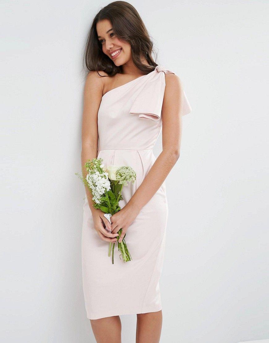 Asos Asymétrique StructuréMariage Robe Avec Wedding Nœud QxeWrdoBEC