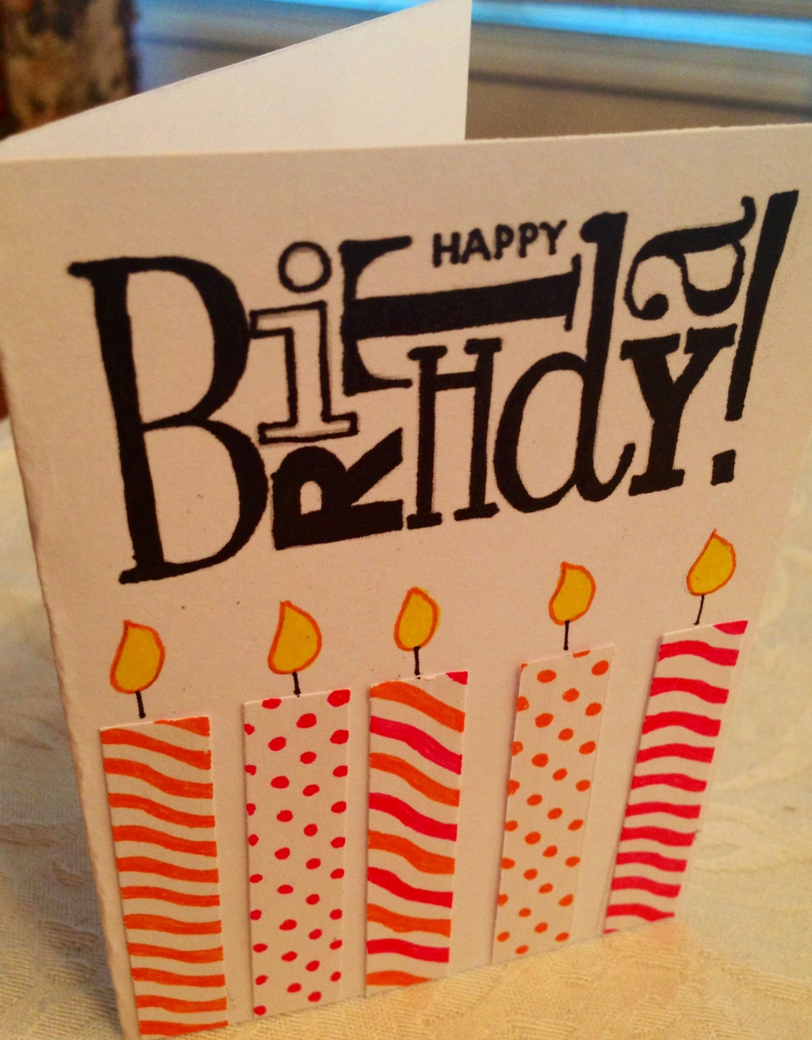 Easy, homemade birthday card. Cool birthday cards