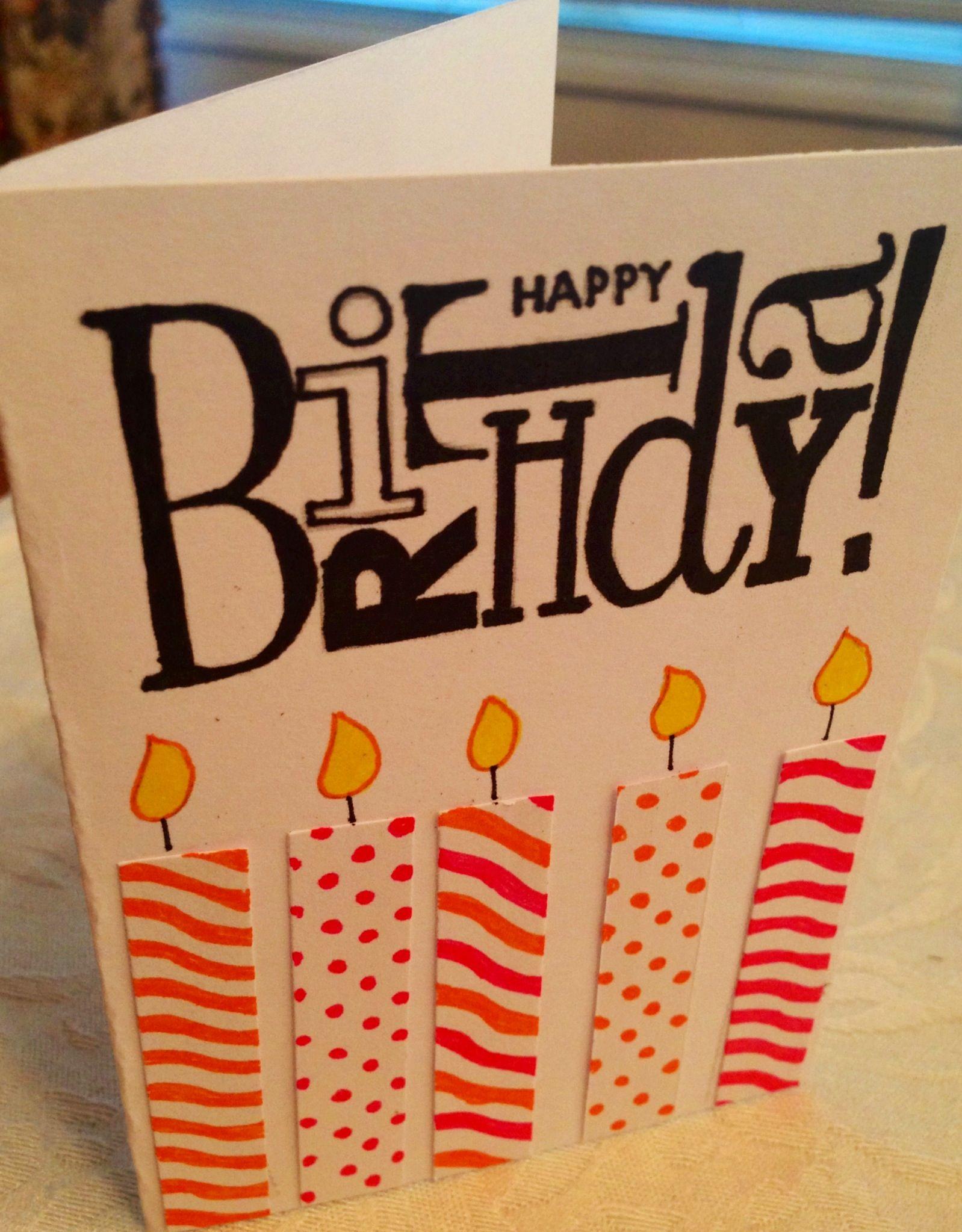 Easy homemade birthday card Birthdays Pinterest