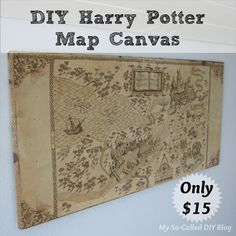 DIY Harry Potter Map Canvas using Spoonflower fabric | My So-Called DIY Blog