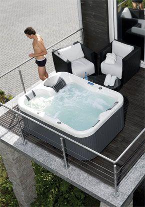 vasca idromassaggio da esterno - Cerca con Google | Outdoor ...