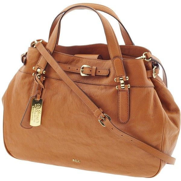 Lauren by Ralph Lauren Leather Belted Satchel ($348) ❤ liked on Polyvore