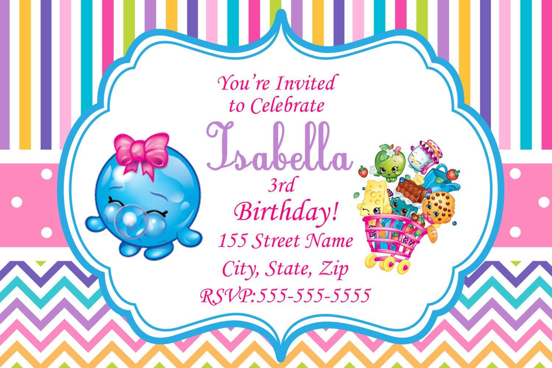 Shopkins Invitations / Shopkins Printed Invitations ...