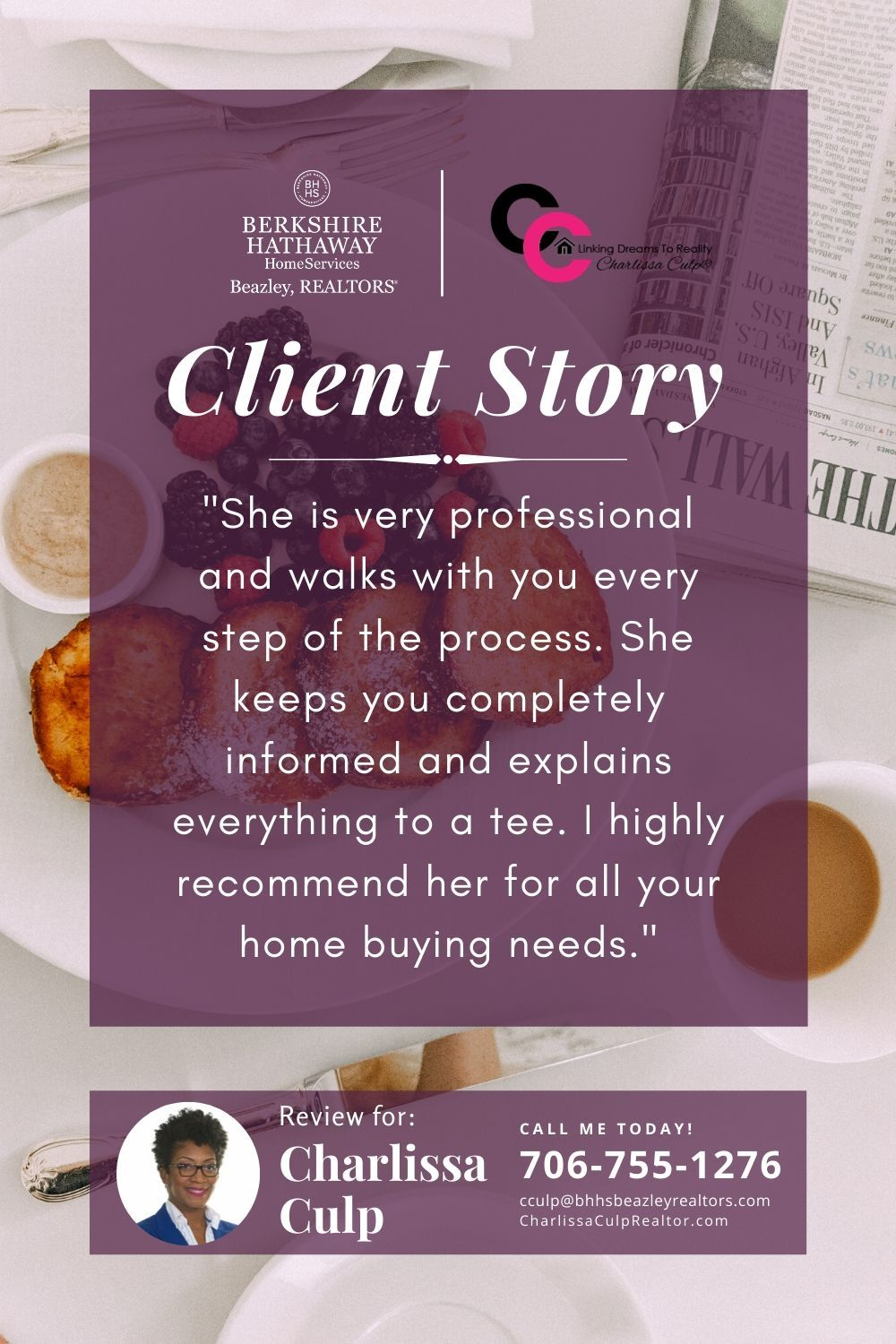 Client Appreciation Quote Realtor Charlissa Culp Berkshire Hathaway Homeservices In 2020 Client Appreciation Clients Appreciation Quotes
