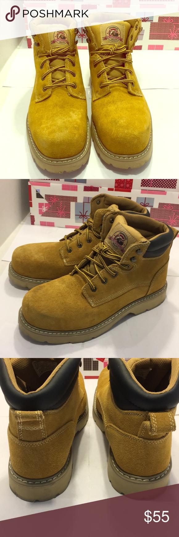 f80a4e0a6d4 NWOT BRAHMA Steel Toe Boots 🥾. Size: 10.5 NWOT BRAHMA Steel Toe ...