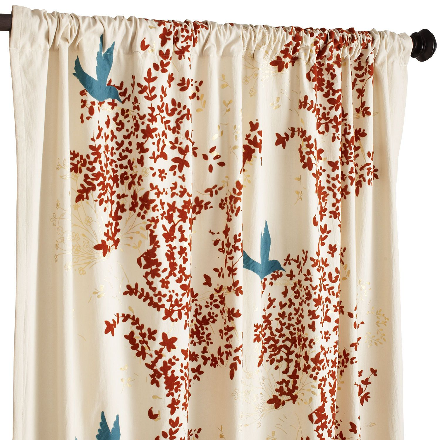 These Are Gorgeous And You Offset The Teal Tones.Flocked Leaf Curtain | Pier  1