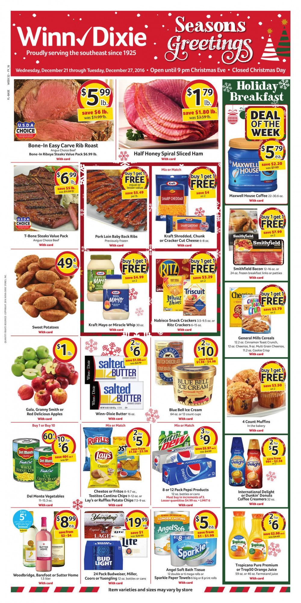 Winn Dixie Weekly Ad December 21 - 27 #grocery #circular ...