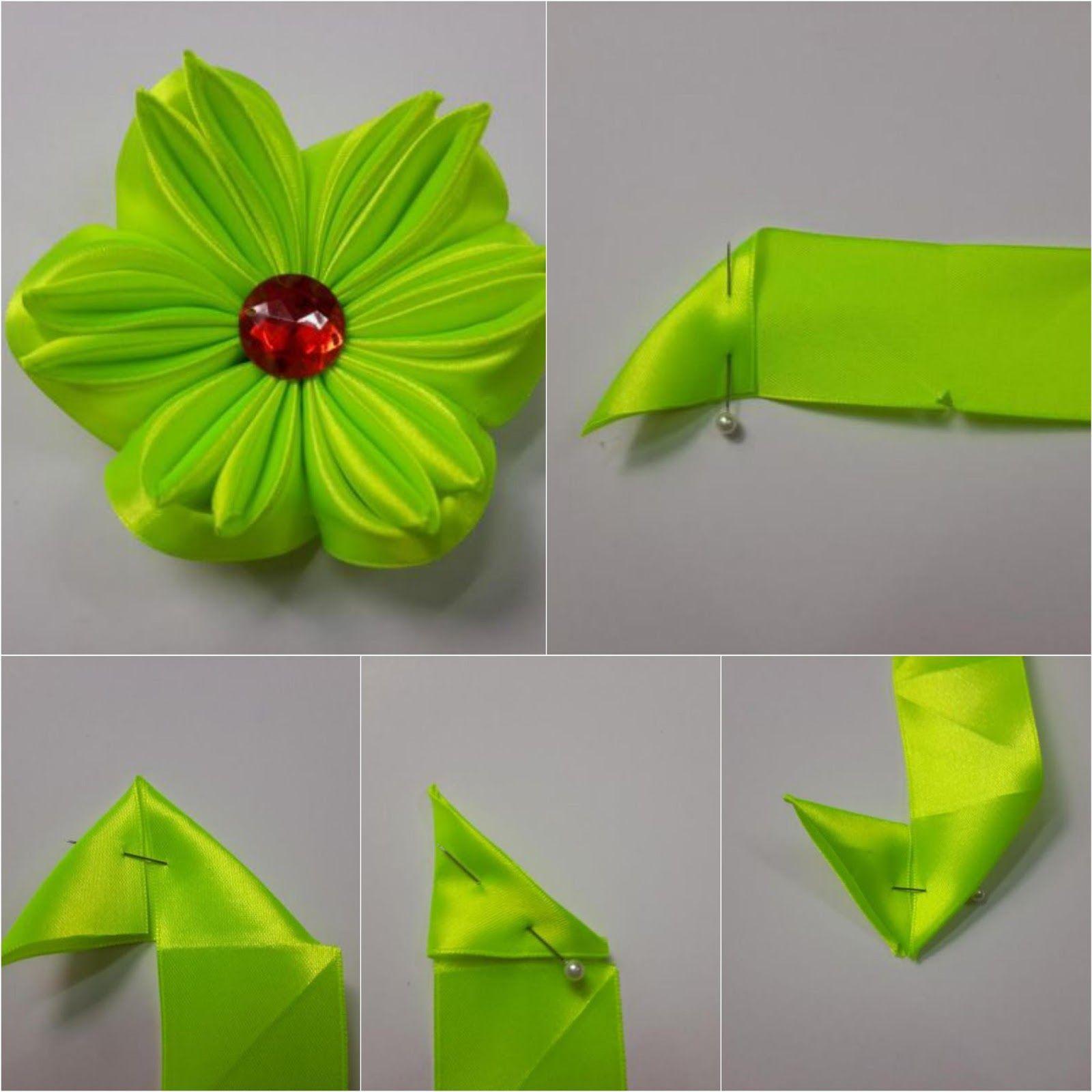 Cómo hacer seis modelos de flores con cinta de raso ~ lodijoella