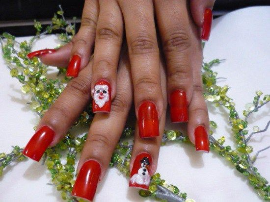 Santa Claus Nail Art 3 Christmas Nails Pinterest Santa Nails