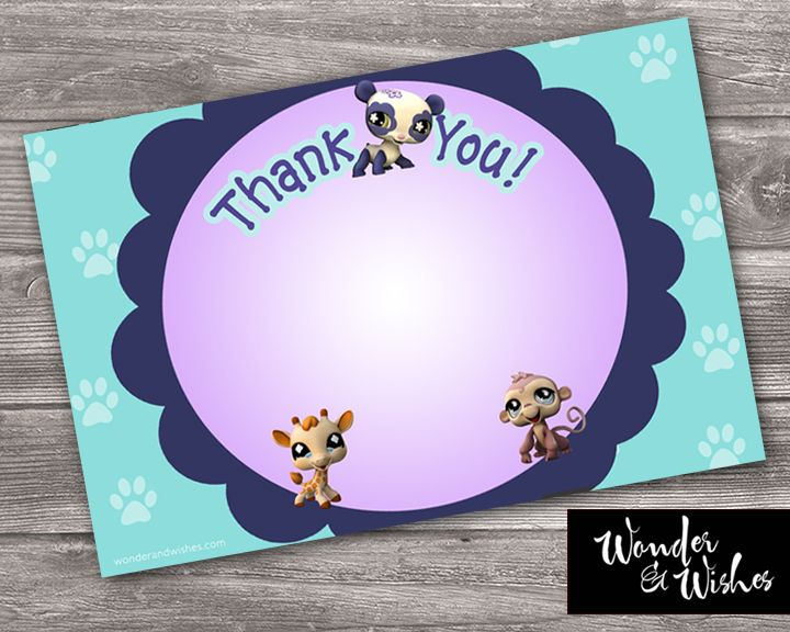 Free Printable File Littlest Pet Thank You Card
