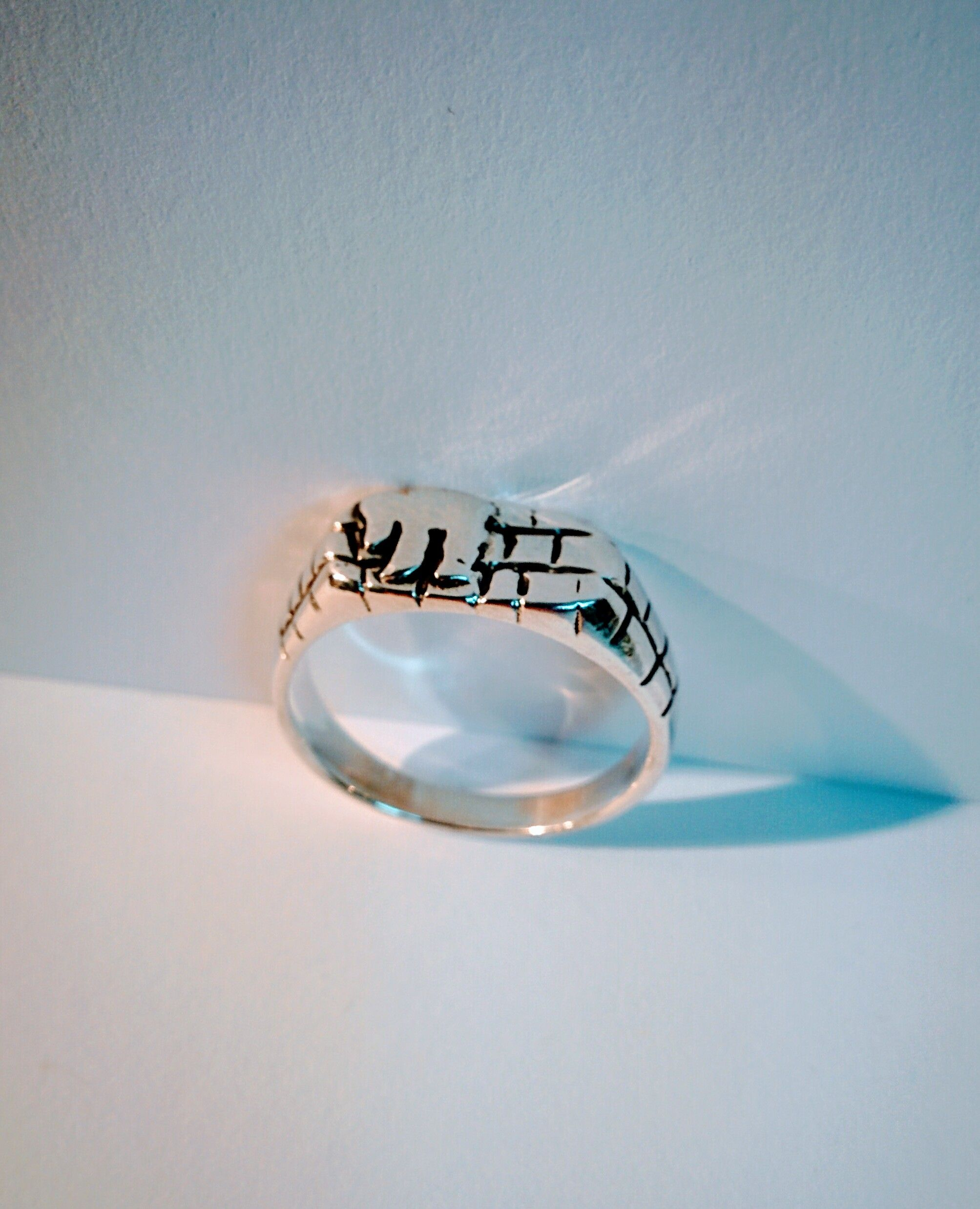 573b0c9306e Chai Ring, Silver with Jerusalem Stone Motif, Hebrew Rings, from ...