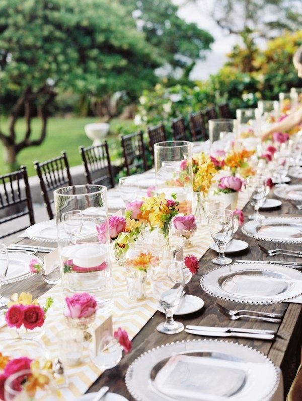 Image Result For Elegant Table Settings An Outdoor Round Wooden Wedding