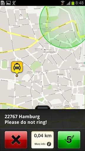 mytaxi is pioneer and market leader of all taxi apps. Since the launch in March 2010 mytaxi is the first app offering a direct connection between driver and passenger without an intermediate taxi dispatch centre. <p>Description<br>★AVAILABLE IN WASHINGTON, DC, 30 CITIES OF GERMANY, VIENNA, ZURICH, BARCELONA, MADRID AND SYDNEY.★ <p>How does mytaxi work for the driver? <br>Taxi drivers within an immediate vicinity of passengers receive a request on their smartphones. The journey gets the taxi…