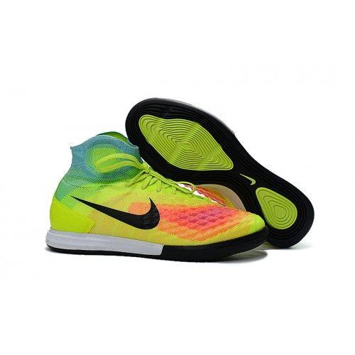Billigt Nike MagistaX Proximo II IC - Volt Svart Hyper Turquoise Total  Orange Rosa 4b839fbc60872