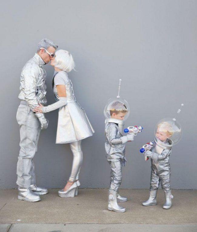 fasching ideen karneval kostueme familie futuristisch zukunft silber raumanzug karneval. Black Bedroom Furniture Sets. Home Design Ideas