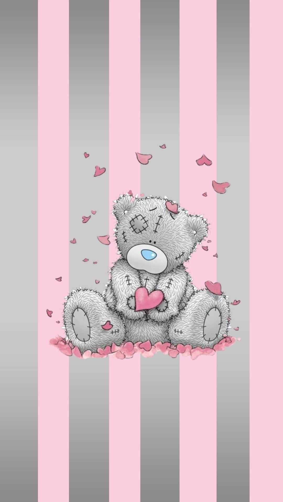 Pin By Nina On My Pink Corner Teddy Bear Wallpaper Bear Wallpaper Wallpaper Iphone Cute