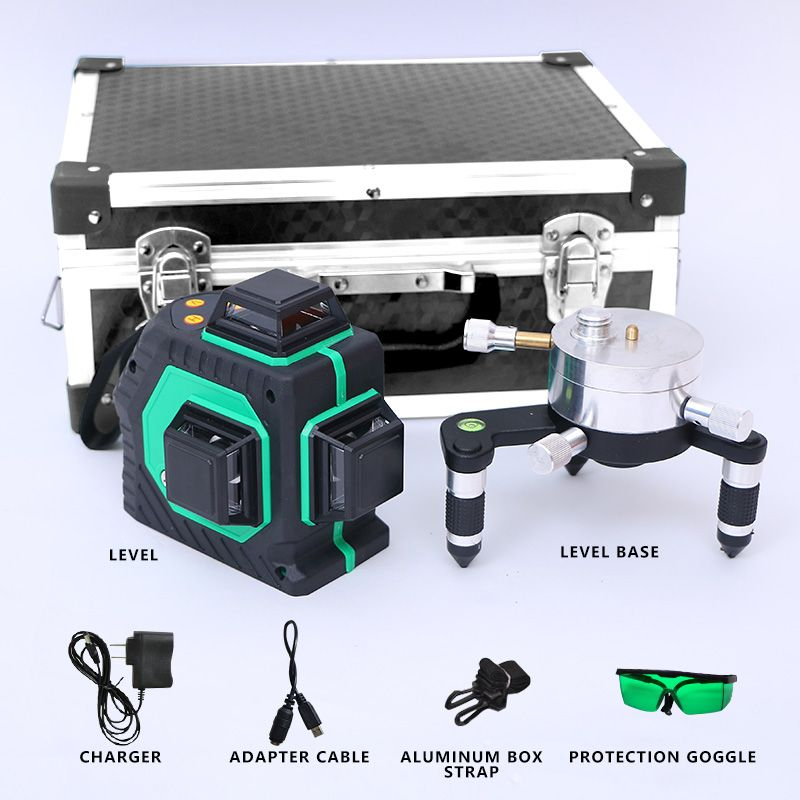 12lines 3d Laser Level Self Leveling 360 Horizontal Level With Tilt Slash Function 360 Rotary Self Lleveling Outdoor Fast Deliv With Images Laser Levels Rotary Leveling